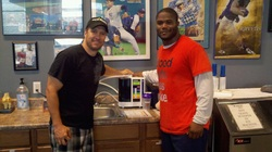 Shan Stratton (left) & Michael Robinson, Running Back for the Seattle Seahawks